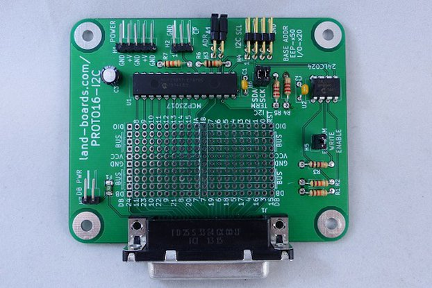 16-Bit Digital I/O w Proto Area (PROTO16-I2C)