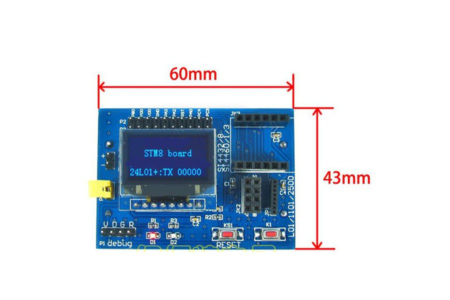 STM8 Development Board (for wireless modules)