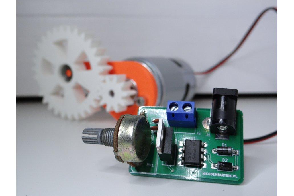 555 PWM motor controller PCB 2