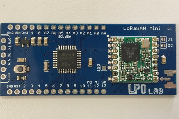LoRaWAN-Mini - An Arduino compatible board