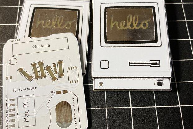 "Classic Mac Pin ""Hello"""