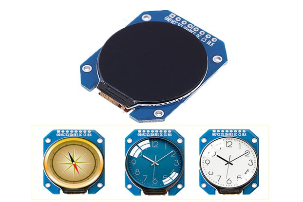 1.28inch TFT Round LCD Display Module_GY18320