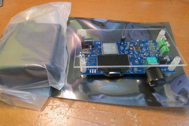 ESP32 web radio /audio BT receiver /w class-D amp