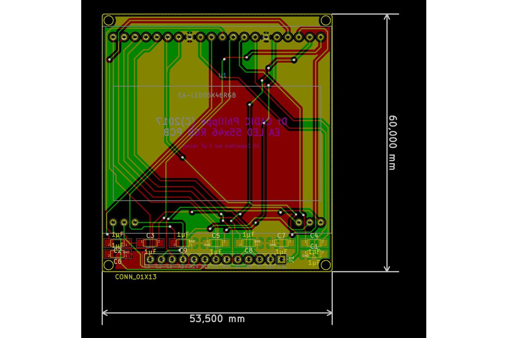 AE DOGM-128 Display holder, breadboard compatible 10