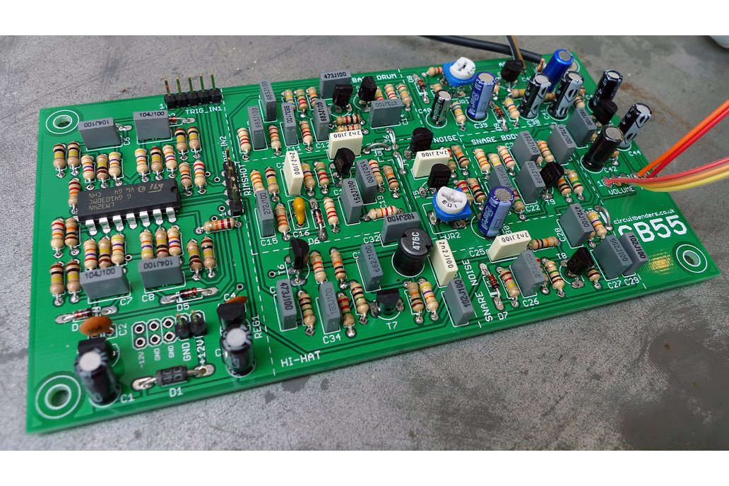 CB55 - Boss DR55 analogue drum sounds clone PCB 4