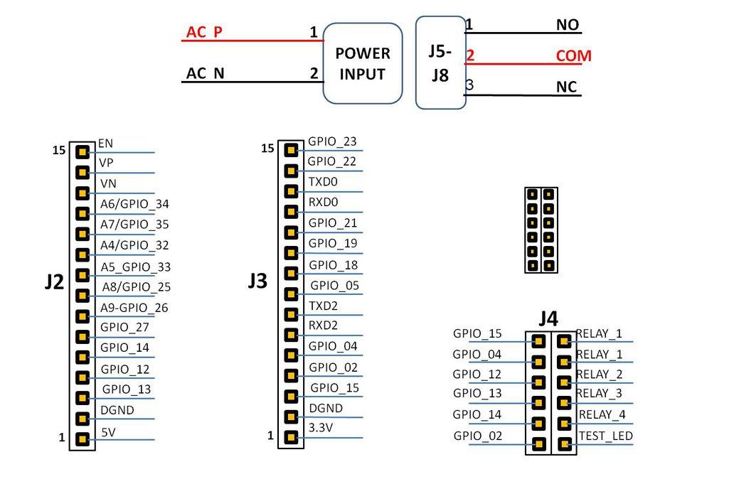 Wifi/BT Esp32 Quad Relay Board ,Amazon Alexa 6