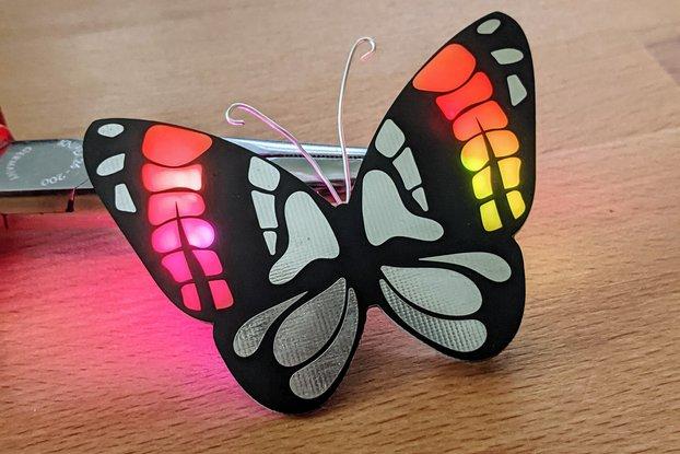Rainbow Butterfly: Beautiful simple soldering kit