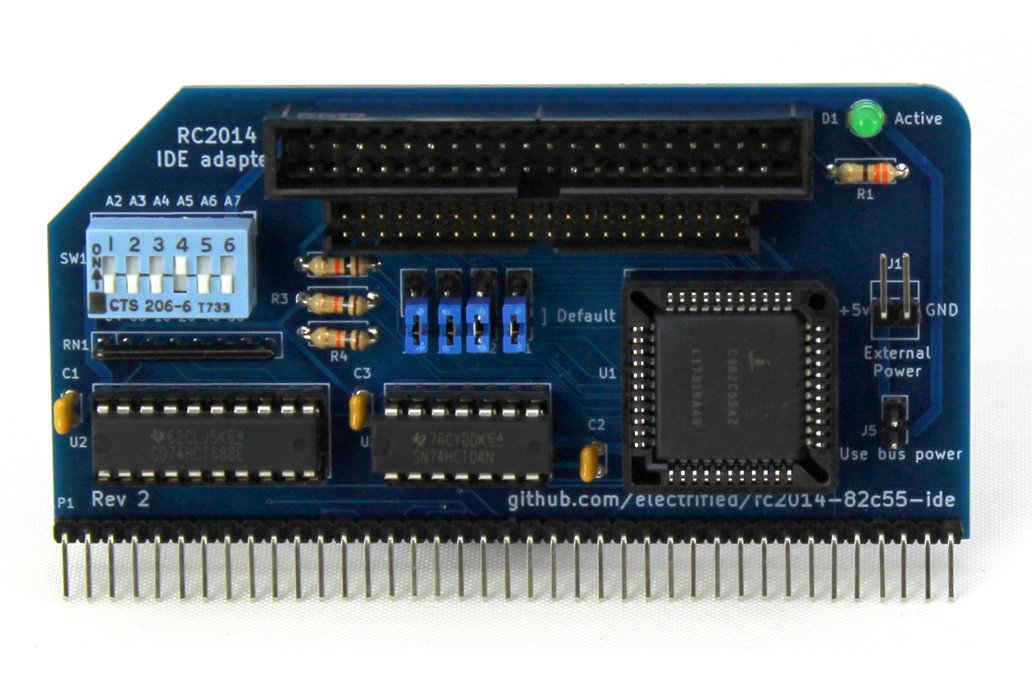 8255 based IDE disk drive interface for RC2014 2