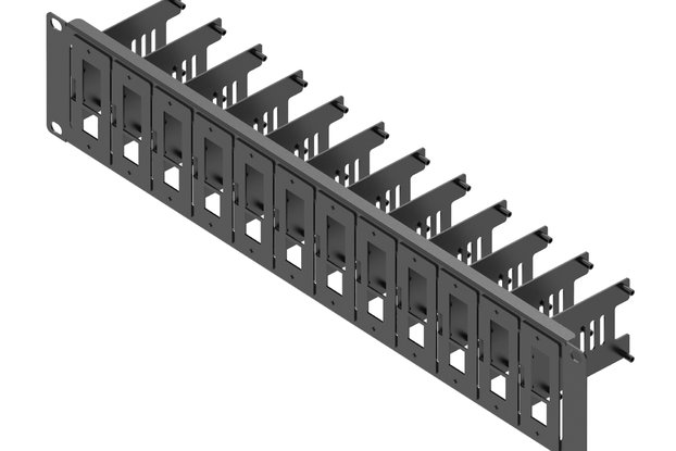 19-inch 2U Server Rack with 12 Pieces of Removable