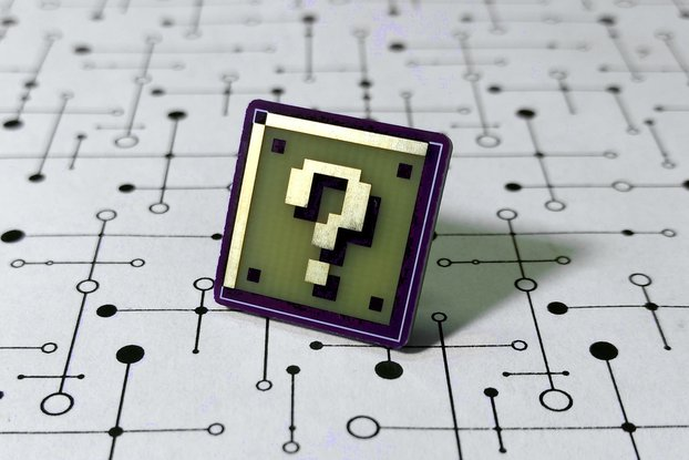 Super Mario Question Block PCB Lapel Pin