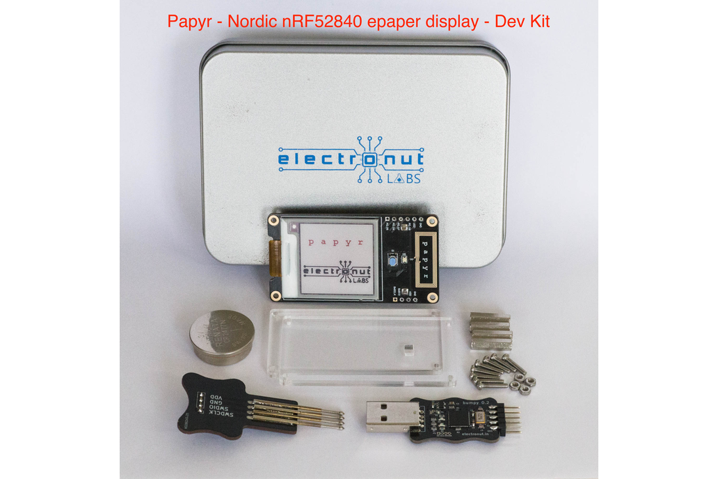 Papyr Dev Kit - Nordic nRF52840 epaper display 1