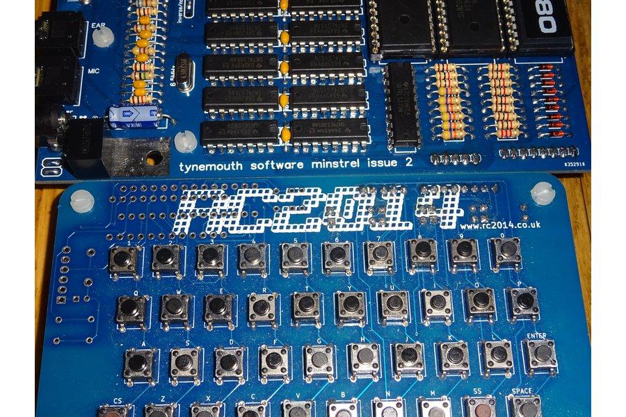 Minstrel ZX80 Clone with RC2014 keyboard