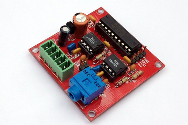 Dual 7 Band Audio Spectrum Analyzer with MCU PCB