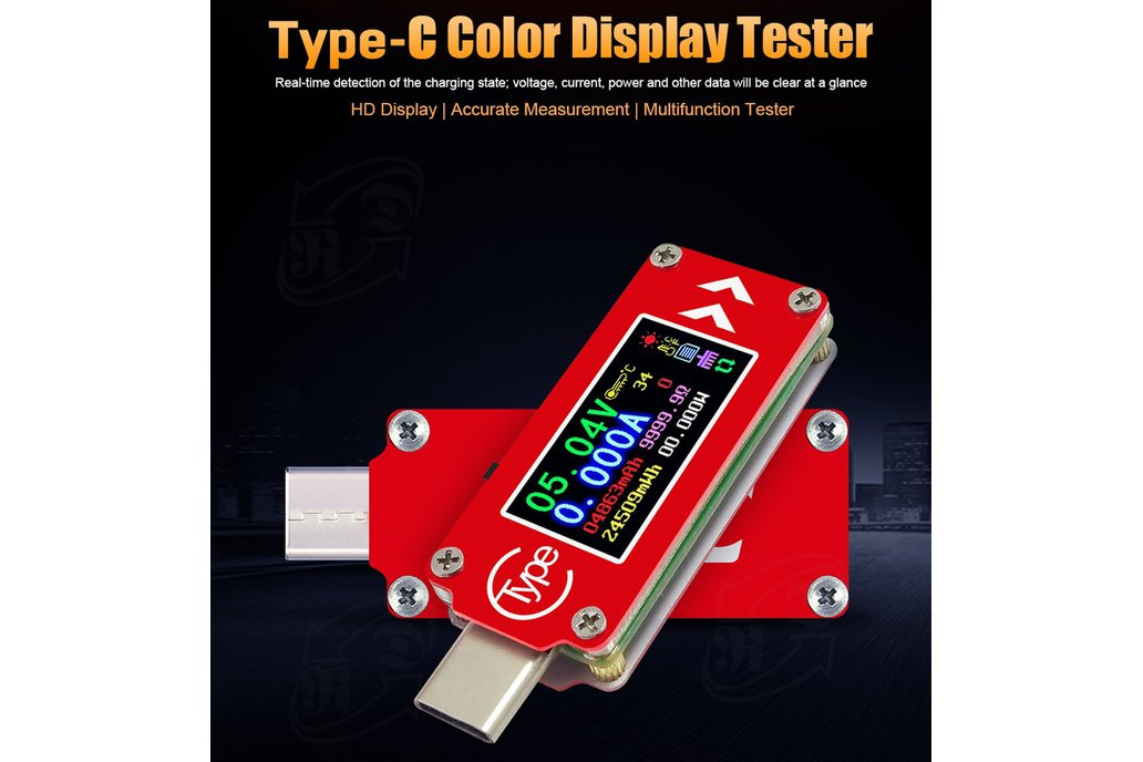 USB energy monitor OLED disp current voltage power 1