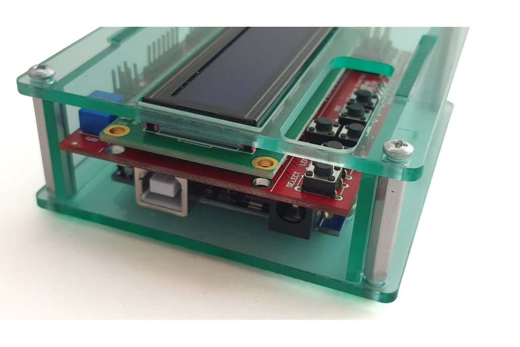 Acrylic enclosure for Arduino Uno and 16x2 LCD 2