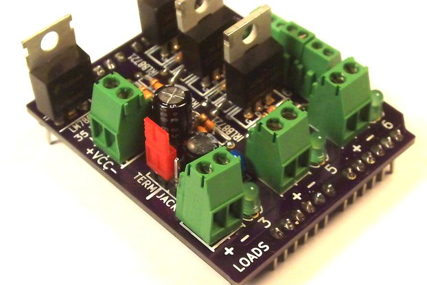 MOSFET Jr Shield Kit for Arduino