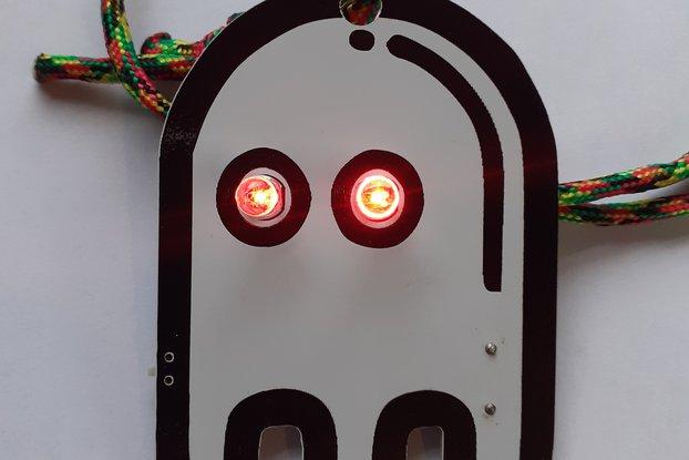 LED ghost lanyard badge