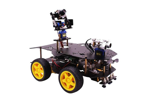 Smart Robot Kit with AI Vision for Raspberry Pi 4B