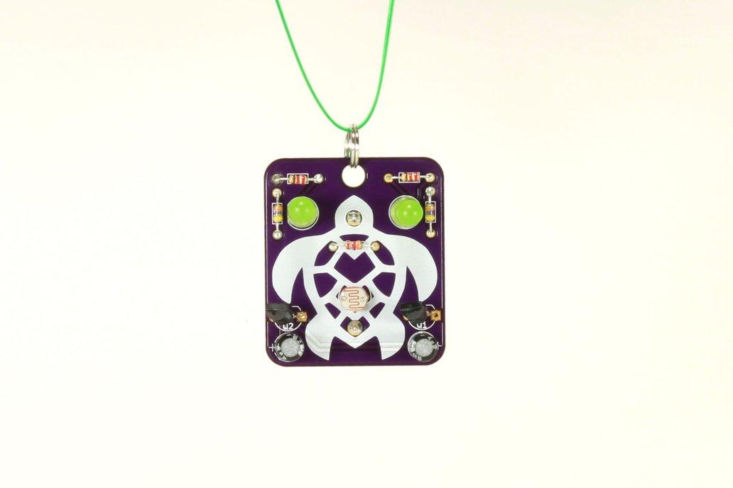 Turtle: Wearable Blinky-Board Soldering Skills Kit 1