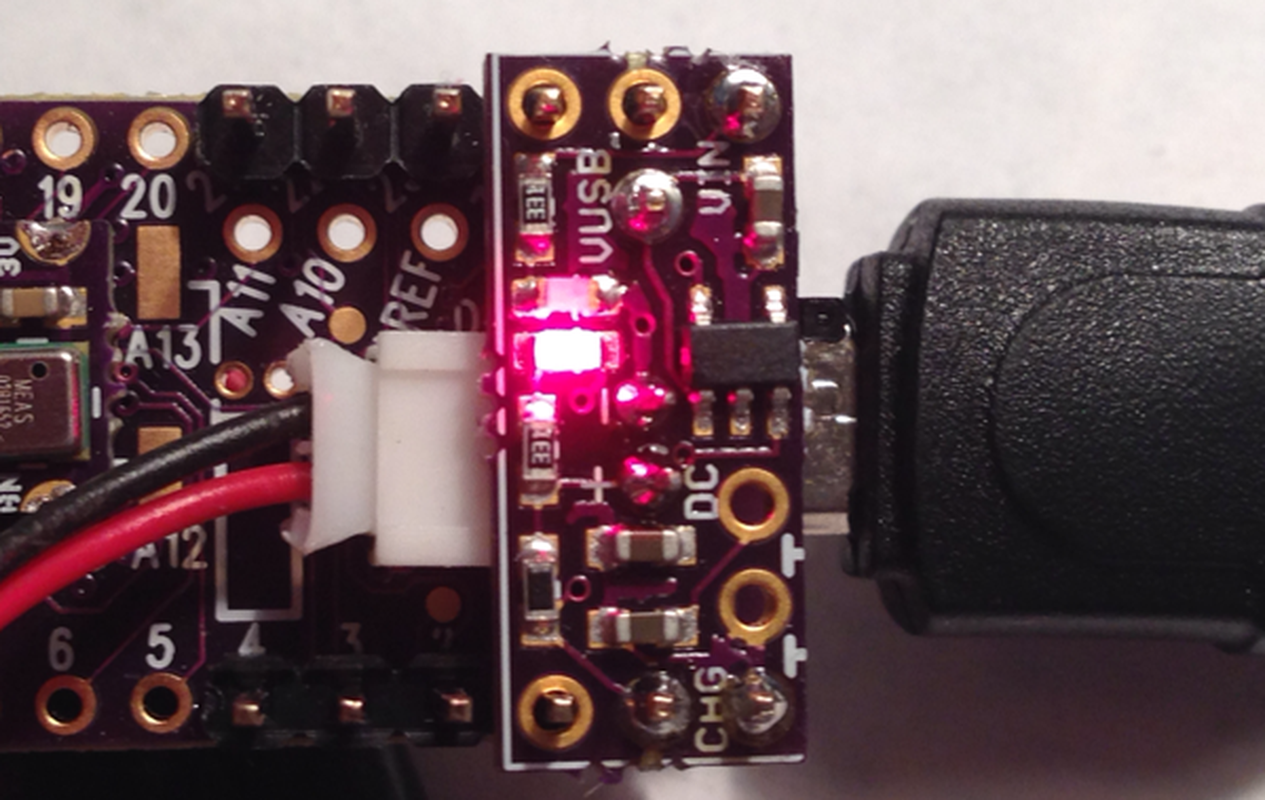Lipo Battery Charger Add On For Teensy 31 From Pesky Products Tindie Simple Nimh Circuit Batterycharger Powersupply 1