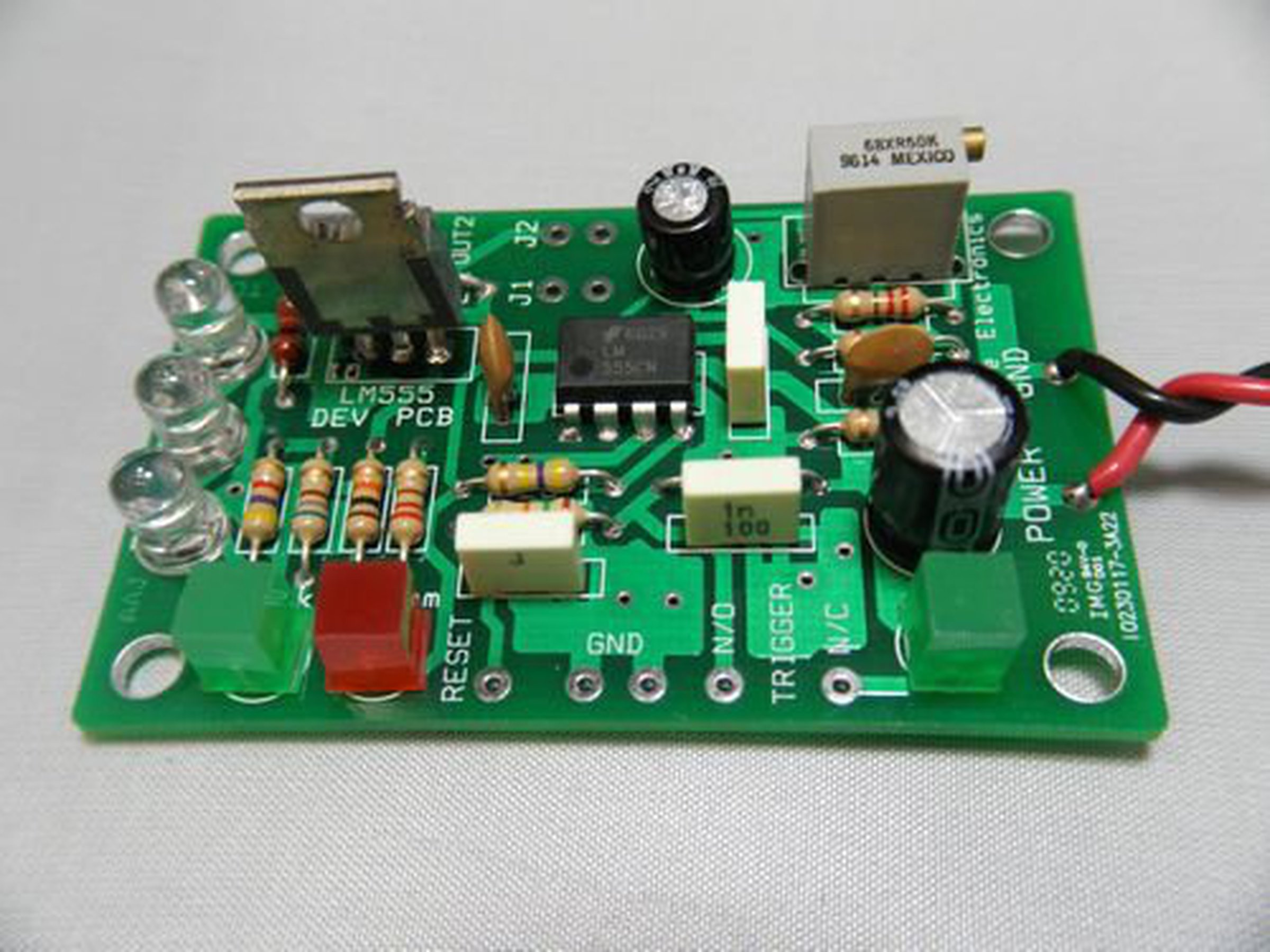 Lm555 Timer Development Kit 1710 From Nightfire Electronics Llc 555 Monostable Circuit Electrical Engineering 1
