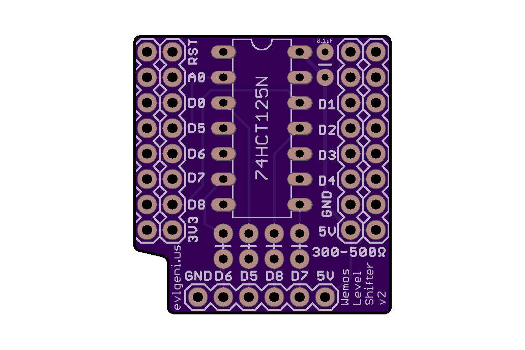 Wemos D1 Mini ESP8266 Level Shifter Mini Shield 8