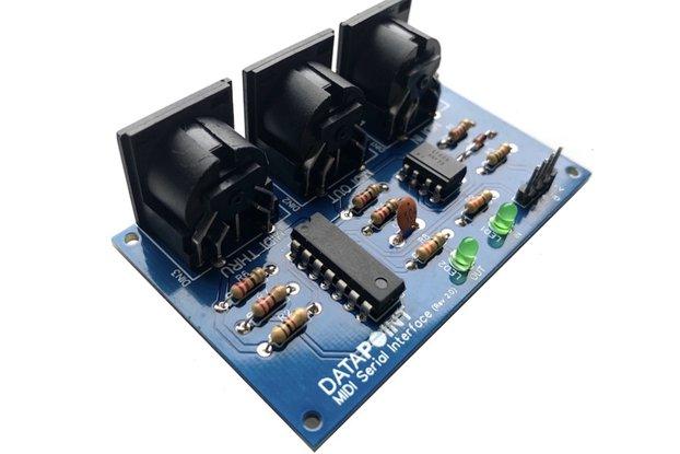 MIDI Serial Interface (with Thru & LED indicators)