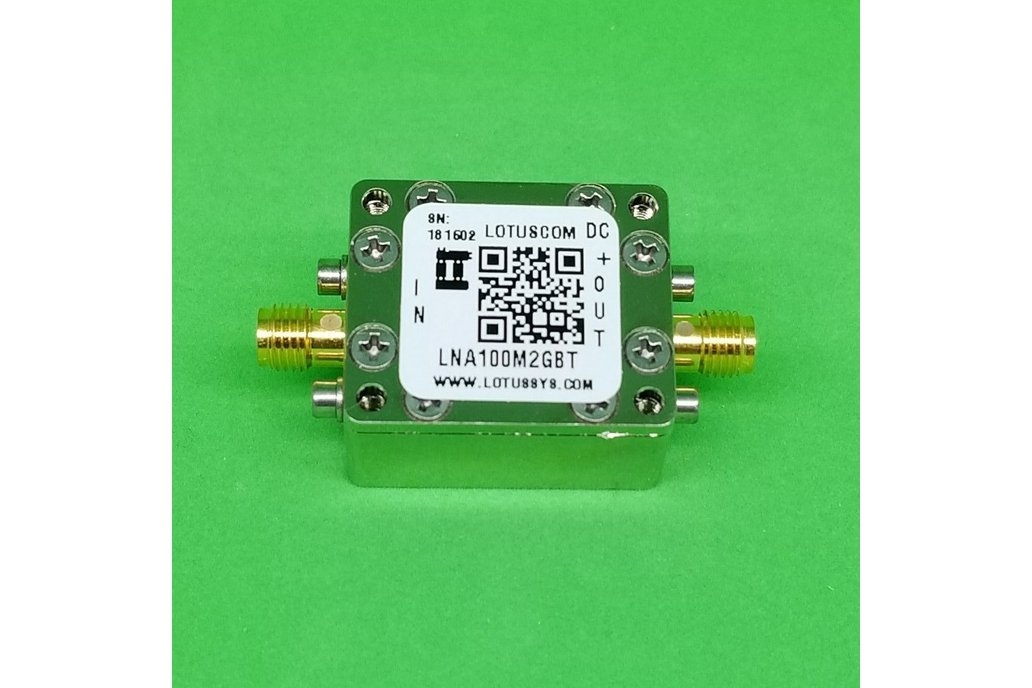 Broadband LNA 0.45dB NF 0.1~2 GHz with Bias Tee 1