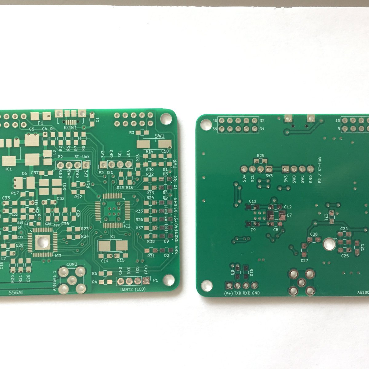 Bare PCB MMDVM HotSpot hat for RPi type B - S56AL