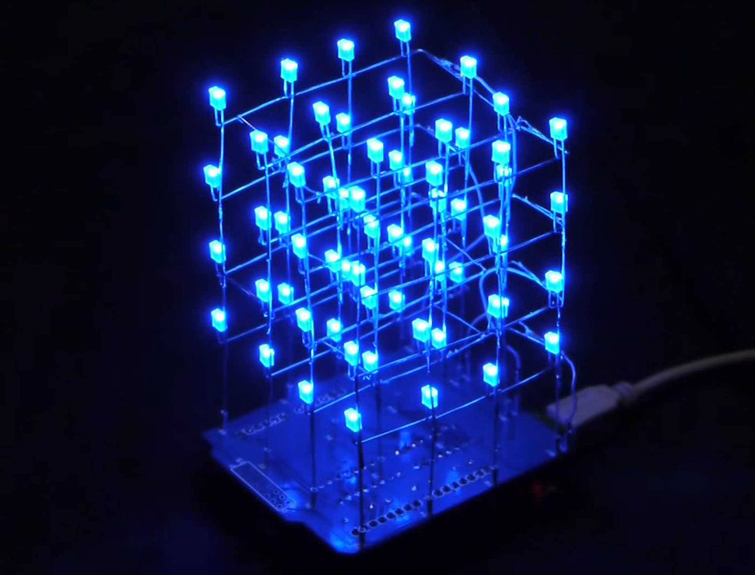 icstation 4x4x4 light cube kit for arduino 5312 from icstation on tindie. Black Bedroom Furniture Sets. Home Design Ideas