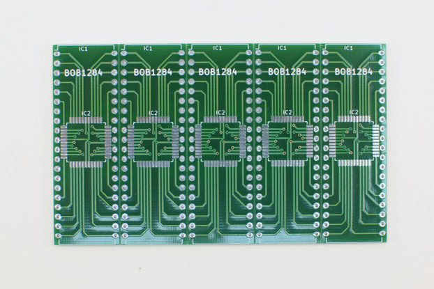 Breakout board for ATmega1284 - Panel of 5