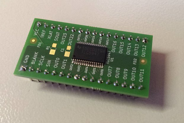 Breakout TLC5947 LED driver or other 32-pin TSSOP