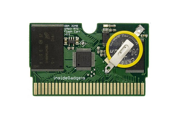 GBA 32MB, 1Mbit Flash Save with RTC, Flash Cart