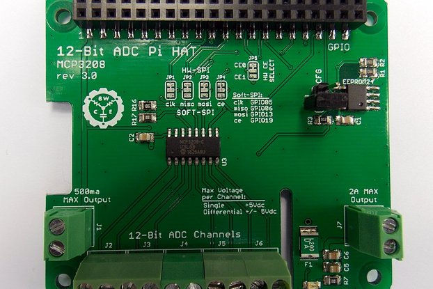 12-Bit/8-Channel ADC HAT for Raspberry Pi v3.0
