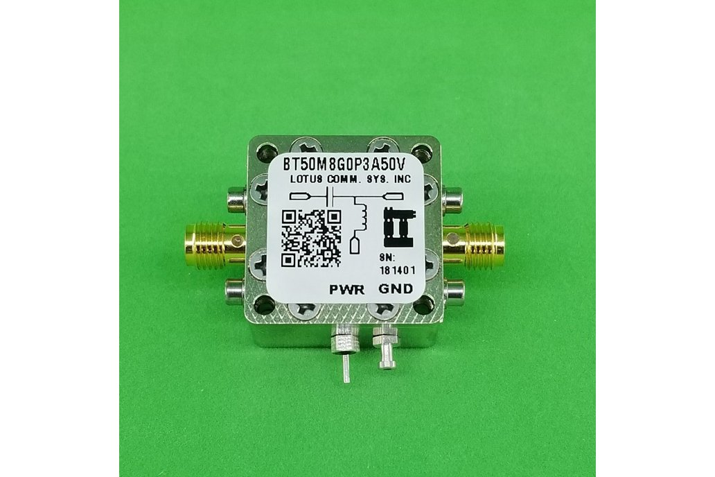 Bias Tee Broadband 50 MHz to 8.2 GHz (Max. 300mA 5 1