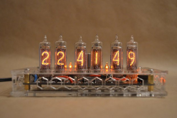 IN-16 Nixie Tube Clock Transparent Enclosure