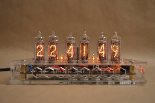 IN-16 Nixie Tube Clock Transparent Enclosure