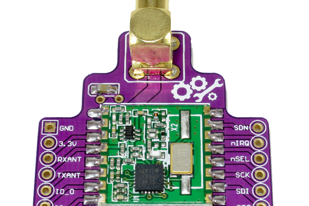RFM22B Wireless Breakout Board - 800m+ Range
