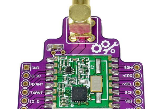 RFM22B Wireless Breakout Board - 800m+ Range