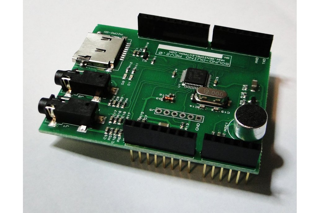 SoundDuino , Audio Shield for Arduino 1
