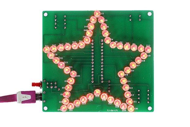 Star Shape RGB Flash LED Lamp Kit(12367)
