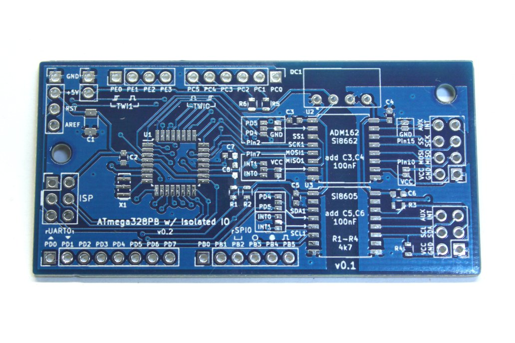 ATmega328PB Isolated Application Board 1
