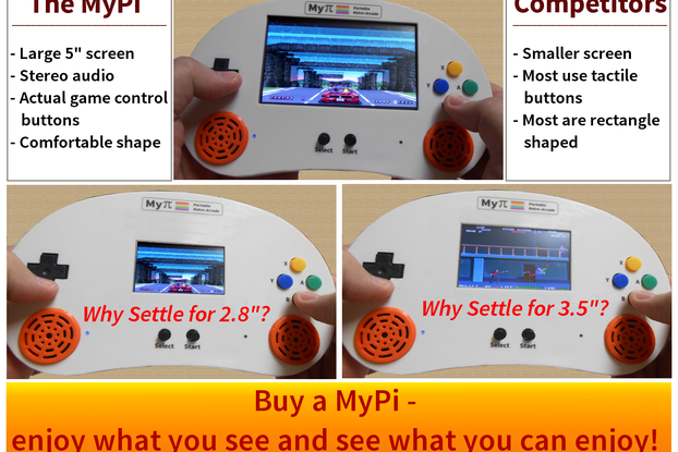 The MyPi Handheld Arcade Premium Kit