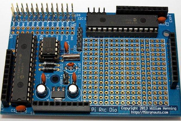 PiRtcDio GOLD I/O shield & RTC for Raspberry Pi