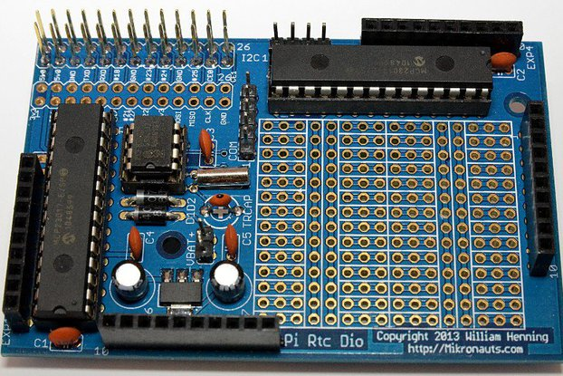 PiRtcDio GOLD I/O shield & RTC for Raspberry Pi