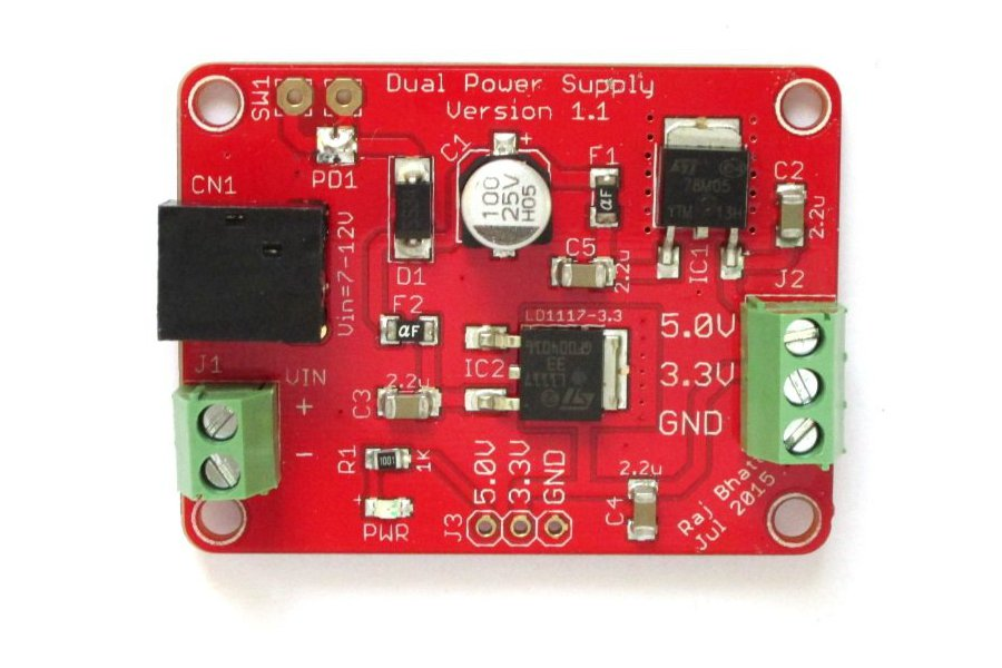 Dual regulated power supply (5.0V/3.3V) board