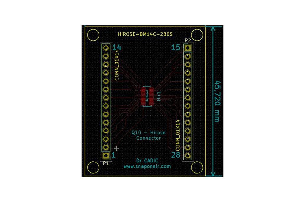 Hirose BM14B Connector breadboard 2