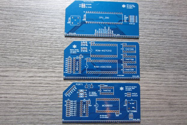 PCBs for a Basic Modular 8-bit Computer (3 PCBs)