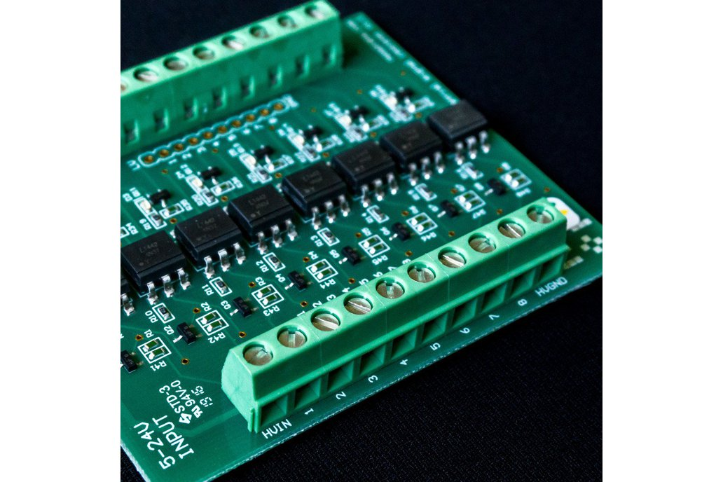 8 ch Opto Isolator board 5-24VDC in 3.3-5VDC out 1