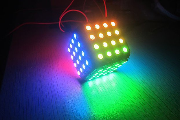 WS2812B LED Cube 96 for arduino colorful magic